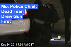 Police Chief: Dead Teen Drew Gun First