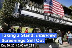 Taking a Stand: Interview Screenings Sell Out
