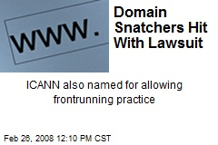 Domain Snatchers Hit With Lawsuit