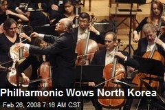 Philharmonic Wows North Korea