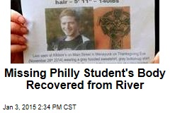 Missing Philly Student's Body Recovered from River