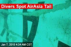 Divers Spot AirAsia Tail