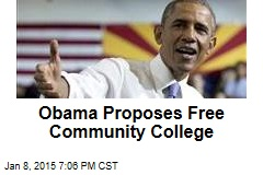 Obama Proposes Free Community College