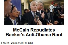McCain Repudiates Backer's Anti-Obama Rant