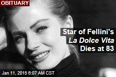 Star of Fellini's La Dolce Vita Dies at 83