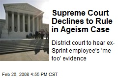Supreme Court Declines to Rule in Ageism Case