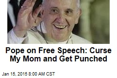 Pope on Charlie: There's a Limit to Free Speech
