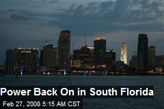 Power Back On in South Florida