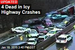3 Dead in Icy Highway Crashes