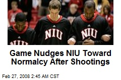 Game Nudges NIU Toward Normalcy After Shootings