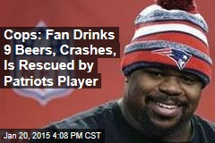 Cops: Patriots Player Rescues Driver Who Got Drunk at Game