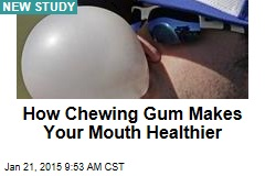 How Chewing Gum Makes Your Mouth Healthier