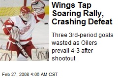 Wings Tap Soaring Rally, Crashing Defeat