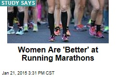 Women Are 'Better' at Running Marathons