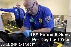 TSA Found 6 Guns Per Day Last Year
