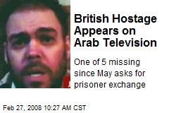 British Hostage Appears on Arab Television