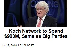Koch Bros. Plan Mammoth $889M Spend in 2016