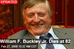 William F. Buckley Jr. Dies at 82
