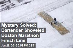 Mystery Solved: Bartender Shoveled Boston Marathon Finish Line