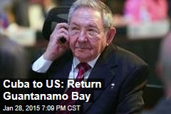 Cuba to US: Return Guantanamo Bay