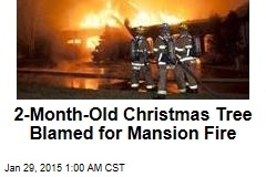 15-Foot Xmas Tree Blamed for Mansion Fire