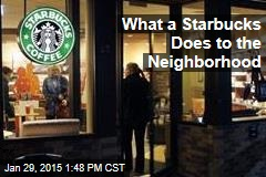 What a Starbucks Does to the Neighborhood