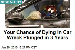 Your Chance of Dying in Car Wreck Plunged in 3 Years