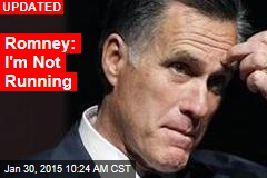 Romney: I'm Not Running