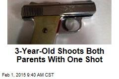 Toddler Swipes Mom's Gun, Hits Both Parents in Single Shot