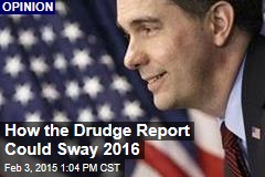 How the Drudge Report Could Sway 2016