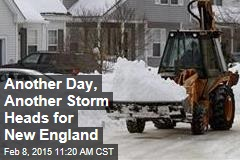 Another Day, Another Storm Heads for New England