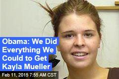 Obama: 'Heartbreak' Over Kayla Mueller