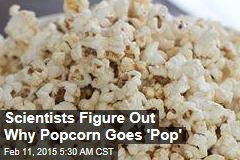 Scientists Figure Out Why Popcorn Goes 'Pop'
