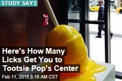 Here's How Many Licks Gets You to Tootsie Pop's Center