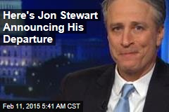 Here's Jon Stewart Announcing His Departure