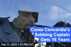 Costa Concordia's Sobbing Captain Gets 16 Years