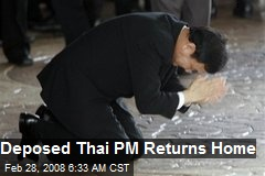Deposed Thai PM Returns Home