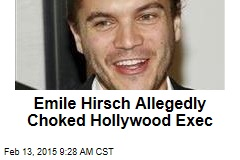 Emile Hirsch Allegedly Choked Hollywood Exec