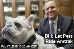 Bill: Let Pets Ride Amtrak
