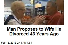 Man Proposes to Wife He Divorced 43 Years Ago