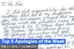 Top 5 Apologies of the Week