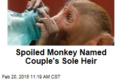 Spoiled Monkey Named Couple's Sole Heir
