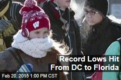 Record Lows Hit From DC to Florida