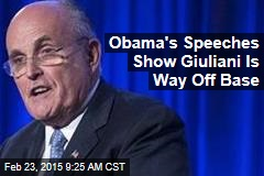 Obama's Speeches Show Giuliani Is Way Off Base