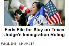 Feds File for Stay on Texas Judge's Immigration Ruling