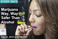 Marijuana Way, Way Safer Than Alcohol