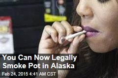 Pot Officially Legal in Alaska Today