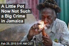In Jamaica, a Little Pot Now No Crime