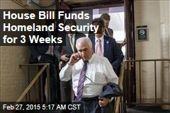 House Bill Funds Homeland Security for 3 Weeks