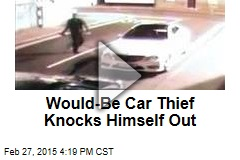 Would-Be Car Thief Knocks Himself Out